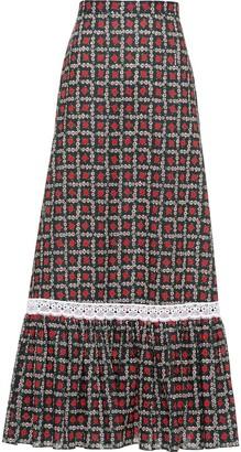 Miu Miu Motif Print Maxi Skirt