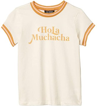 Tiny Whales Hola Muchacha T-Shirt (Toddler/Little Kids/Big Kids) (Natural) Girl's Clothing