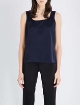 St. John Sleeveless satin top