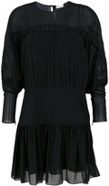 RED Valentino pleat detail sheer dress - women - Polyester - 40