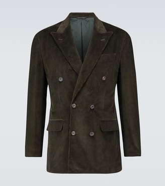 Thom Sweeney Double-breasted corduroy blazer