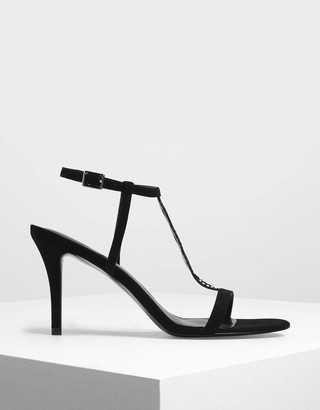 Charles & KeithCharles & Keith Cut-Out Embellished Stiletto Heels