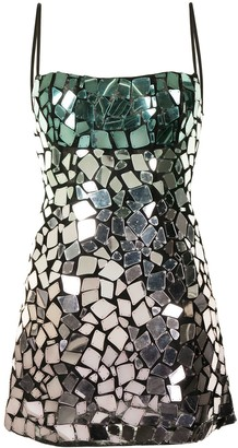 Rachel Gilbert Alexi mirror-embellished dress