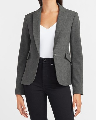 Express Soft & Sleek Peak Lapel One Button Blazer