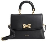 Ted Baker Lauree Looped Bow Leather Satchel - Black