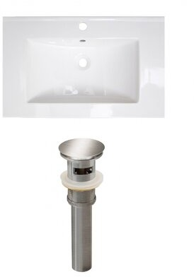 "American Imaginations Ceramic 24"" Single Bathroom Vanity Top Faucet Mount: Single"