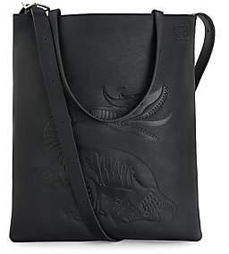 Loewe Men's Vertical Dragon-Print Tote Bag