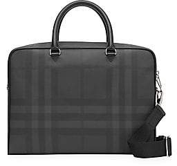 Burberry Men's Ainsworth London Check Leather Briefcase