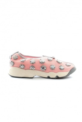 Christian Dior Pink Leather Trainers