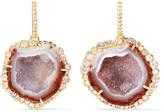 Kimberly McDonald - 18-karat Gold, Geode And Diamond Earrings