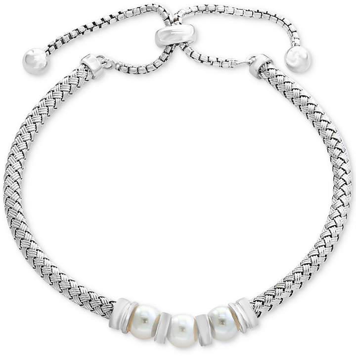 Effy Cultured Freshwater Pearl (6mm) Bolo Bracelet in Sterling Silver