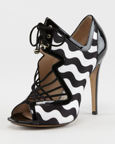 Wavy Lace-Up Sandal