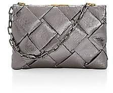 Nancy Gonzalez Women's Small Woven Snakeskin Frame Clutch