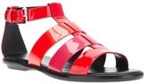 Hogan large buckle wedge sandal