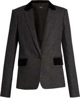 Joseph Prisca Prince of Wales-checked wool blazer