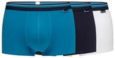 Sloggi Pack Of Three Turquoise Hipster Trunks