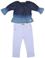 7 For All Mankind Girls' Ruffle Chambray Top & Skinny Stretch Jeans Set - Baby