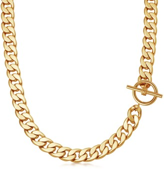 Missoma Lucy Williams Gold T Bar Chunky Chain Necklace