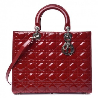 Christian Dior Lady Red Patent leather Handbags