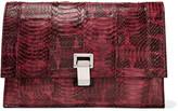 Proenza Schouler Leather paneled snake shoulder bag