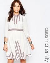 Asos Embroidered Pretty Folk Skater Dress