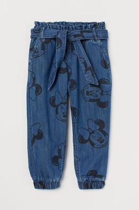 H&M Patterned Denim Joggers