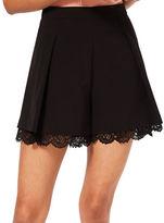 Miss Selfridge Lace Hem Shorts