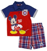 Mickey Mouse Toddler Boys' Mickey Mouse I'm All Ears Top And Bottom Set - Multicolor