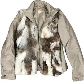 Marella Beige Rabbit Jacket for Women