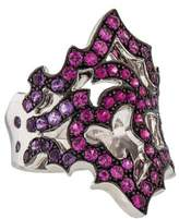 Stephen Webster 18K Pink Sapphire & Amethyst Chaos Ring