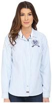U.S. Polo Assn. Vertical Striped Oxford Long Sleeve Shirt
