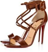 Christian Louboutin Choca 100 Cuoio Leather - Women Shoes