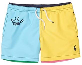 Polo Ralph Lauren Traveler Swim Trunks (Little Kids) (Color-Block Multi) Boy's Swimwear