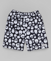 Flap Happy Jolly Roger Skull Swim Trunks - Infant Toddler & Boys
