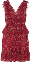 Ulla Johnson Noelle Printed Silk-georgette Mini Dress - Red