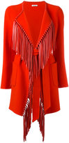 P.A.R.O.S.H. fringed belted coat - women - Lamb Skin/Wool - S