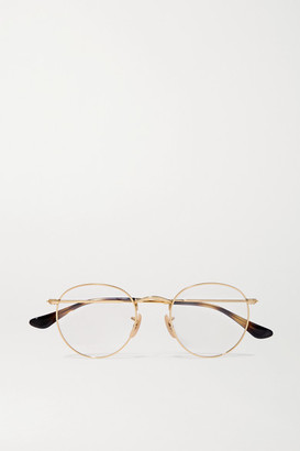 Ray-Ban Round-frame Gold-tone Optical Glasses