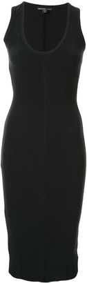 James Perse fitted midi-dress
