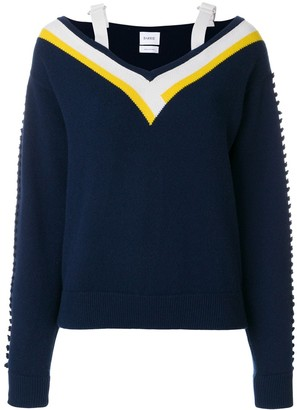 Barrie cashmere V-neck knitted sweater