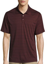Haggar Short Sleeve Plaid Polo Shirt