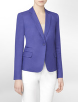 Calvin Klein Single Breasted Linen Blend Blazer