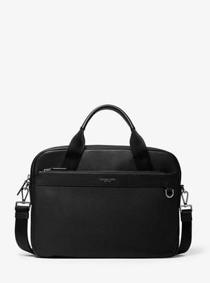 Michael Kors Greyson Slim Pebbled Leather Briefcase