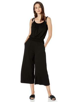 Michael Stars Women's Jane Cotton Modal Cropped Jumpsuit with Tie Straps