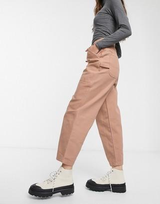 ASOS DESIGN carpenter jeans in washed brick