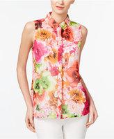CeCe Floral-Print Shirt