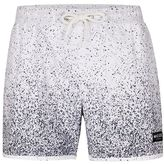 Nicce White Speckled Swim Shorts