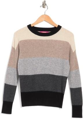 Cashmere Waffle Stitch Boat Neck Sweater