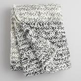 Gray and Ivory Extra Chunky Knit Throw