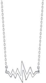 Unwritten Heartbeat Necklace in Fine Silver Plate