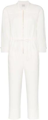 Le Kasha Negev cropped belted linen jumpsuit
